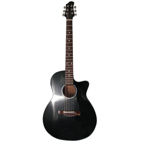 Black Gloss Finish Acoustic Guitar and Case FINAL PRICE $129.60
