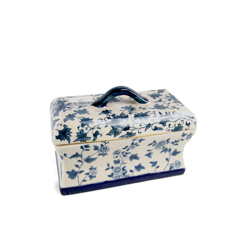 Porcelain Blue Oriental Box (ON SALE)