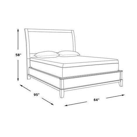 Gramercy Park U.S. Queen Bed Charcoal Finish