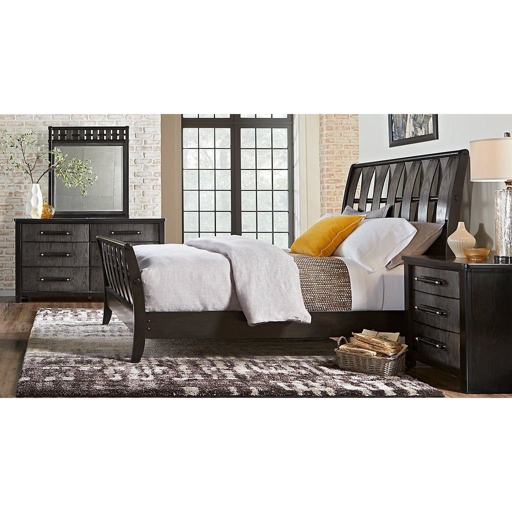 Gramercy Park U.S. King Bed Charcoal Finish (ON SALE)