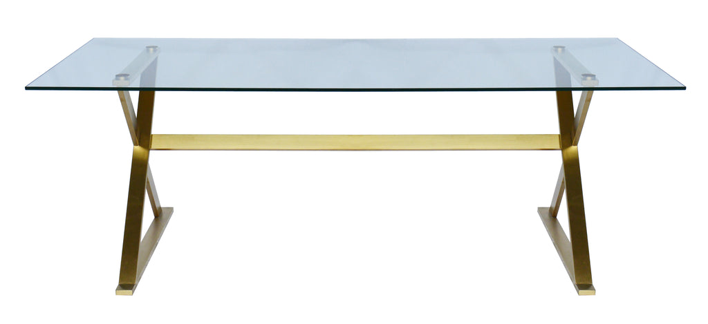 Image Dining Table Brushed Gold