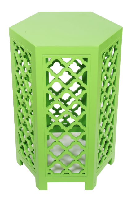 URBAN VOGUE HEXAGONAL TABLES, LIME