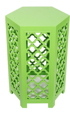 Image of URBAN VOGUE HEXAGONAL TABLES, LIME