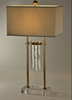 Glassy Wind Chimes Table Lamp