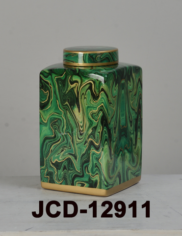 Green & Gold Hurricane Jar
