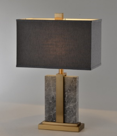 Grey Marble Rectangle Table Lamp