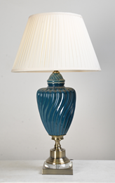 Gold & Blue Table Lamp