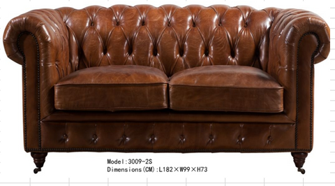 Chestfield Loveseat Sofa 3009