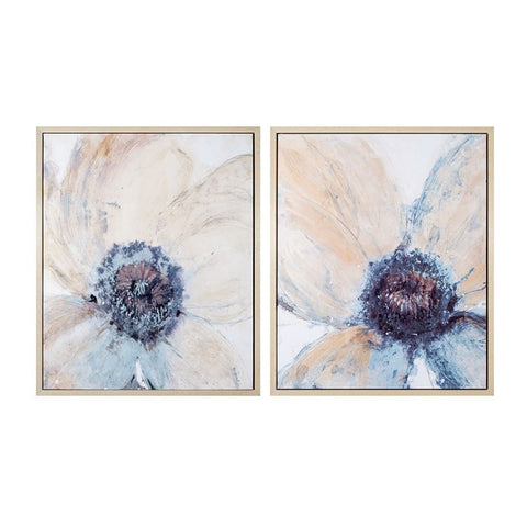 Canvas Hand-Painted Flower Wall Art 1