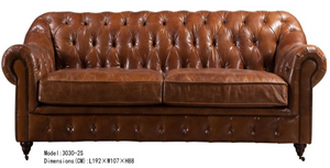 Dark Brown Chesterfield Loveseat