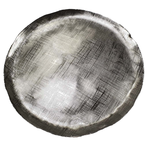 Decorative Aluminum Tray, Silver Streak