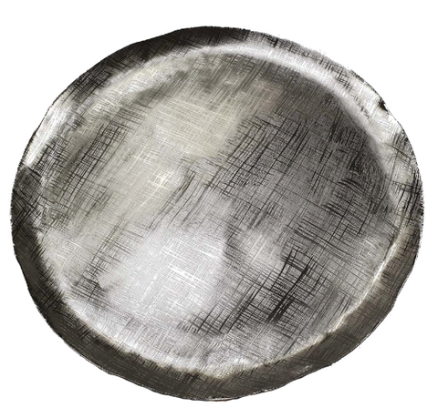 Image of Decorative Aluminum Tray, Silver Streak