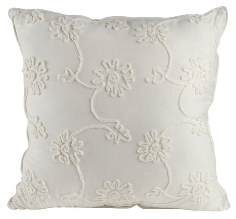 Image of Cushion With Embroidery Flower
