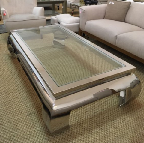 Image of Canton Cocktail Table Rectangle Silver