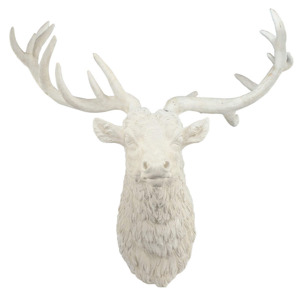 DARBY DEER HEAD WALL ACCENT, RESIN