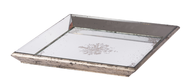 Violet Mirrored Square Tray