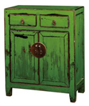 Green Dual Doors Chest Cabinet