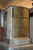 Wooden Brass Fitted 3 Drawers Chest
