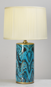 Blue Hurricane Table Lamp