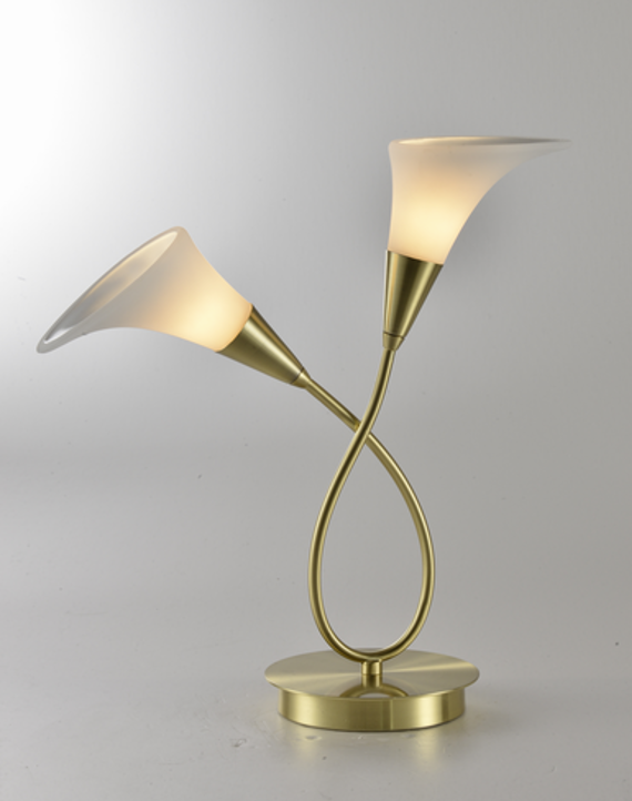 Glassy Double Tulip Table Lamp
