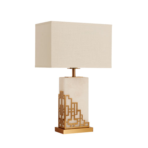 Geometrical Cornered Table Lamp