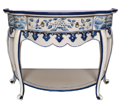 Chinese Blue & White Console