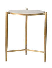 Image of IRON TABLE WITH MARBLE TOP