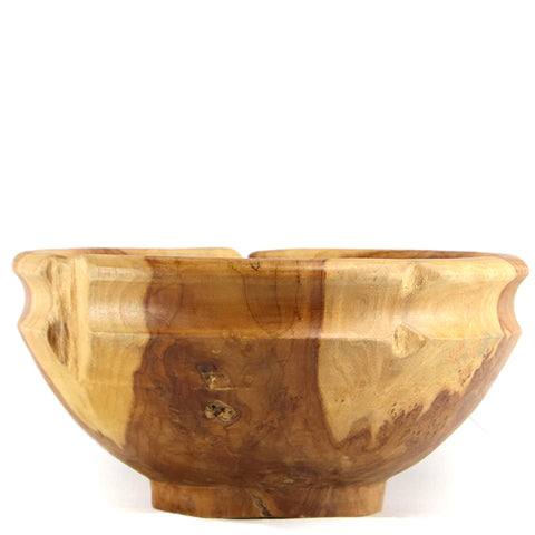 Round Teak Fruit Bowl