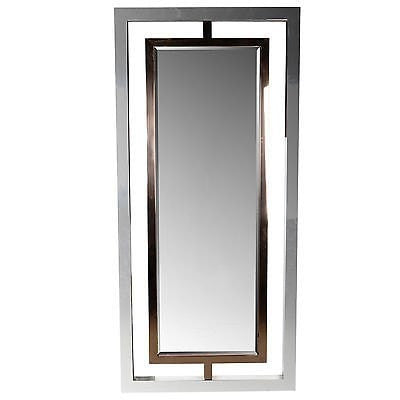 BRYANT STAINLESS STEELE STANDING OVERSIZED MIRROR
