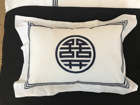 Pillow Case 3-Line Sham 200TC  w Chinese Symbol