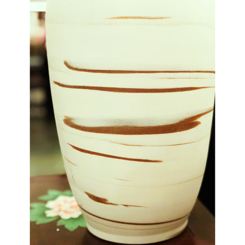 Gold & White Swirl Jar