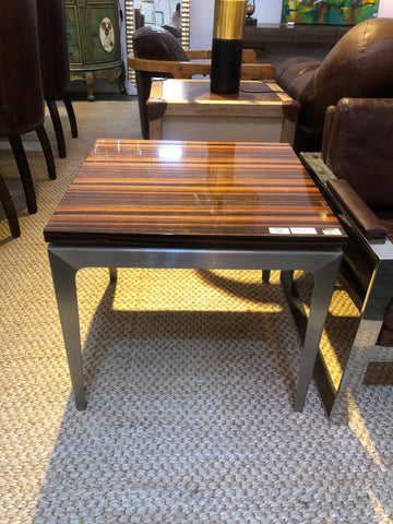 Wood metal side table (ON SALE)
