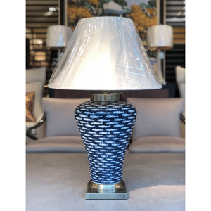 Deep Blue Fish Table Lamp