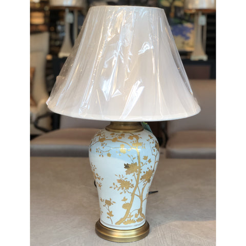 Gold & White Autumn Table Lamp