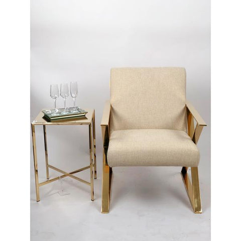 Image of Gold Frame Accent Chair
