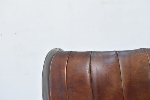 The Symmetrical Leather Bar Stool (brown)