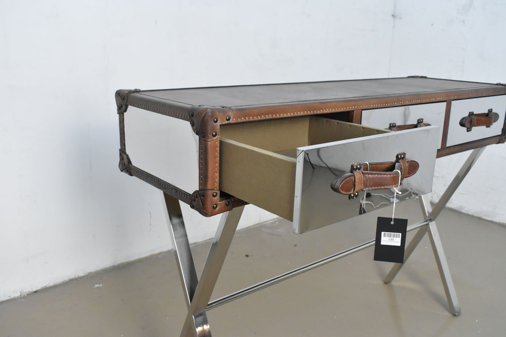 Stainless Steel Leather Console Table