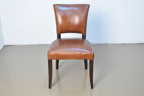 Armless Dining Chair in Leather without Diamond Stitches (ON SALE)