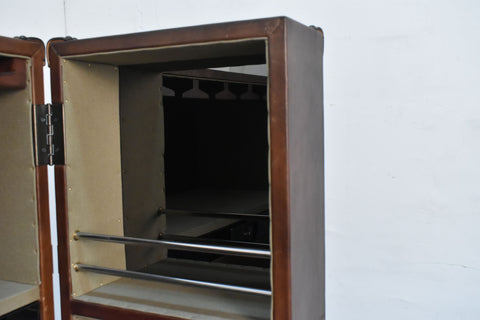 Image of Bar in leather outside and Mirror stainless steel inside