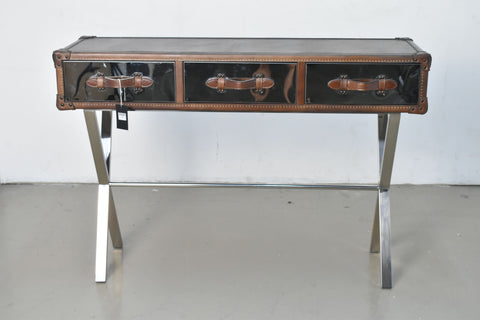 Image of Stainless Steel Leather Console Table