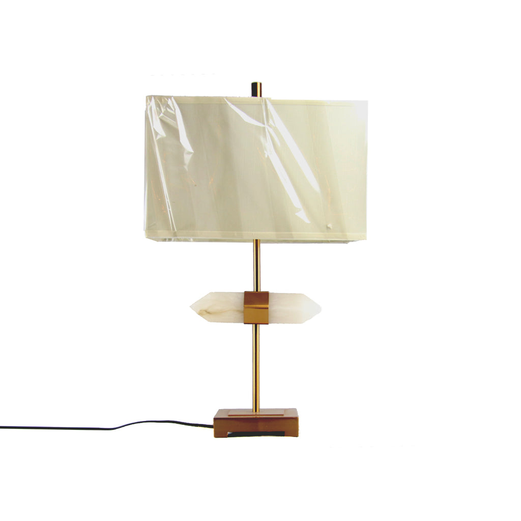 Pointed Alabaster Table Lamp