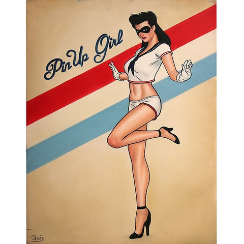 Pin Up Girl Oil Painting 60x80 UNFRAMED
