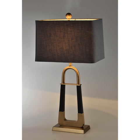 Metallic Two-Legged Lamp