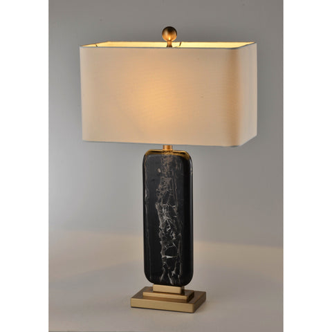 Black Tangled Marble Lamp