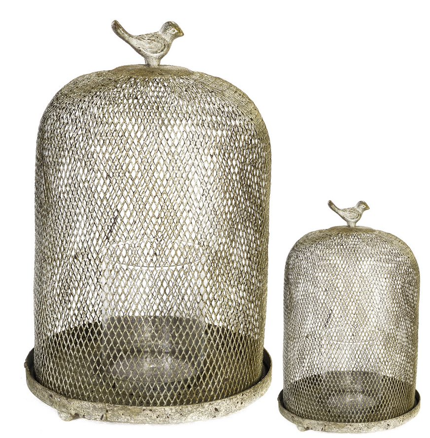 Ophira Golden Sparrow Mesh Candle Holders