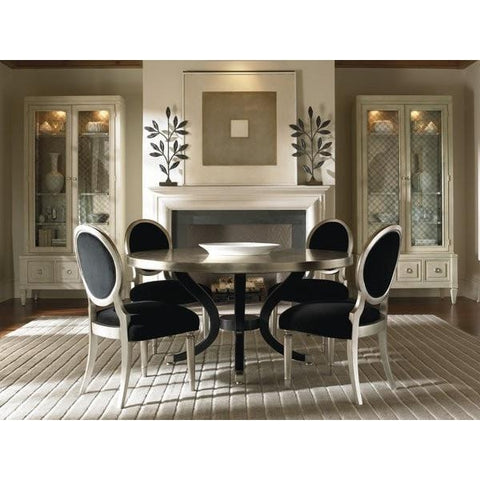 Dining round table room scene - taylorbdesign.com