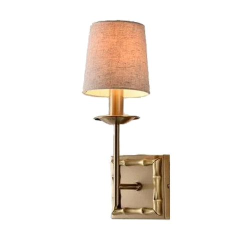 Bamboo Wall Sconce Coffee Bronze Finish
