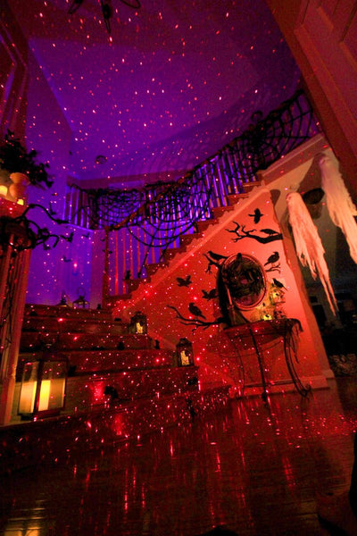 Indoor halloween red laser light projectors