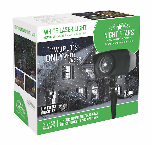 White Laser Light projector by Night Stars