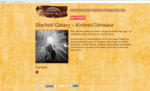 Starfield Galaxy on Dinosaurs at Lucidity 2015